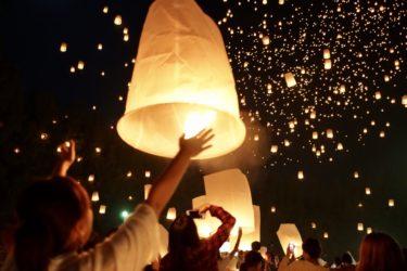 【子どもに見せたい絶景_Thai①】ラプンツェルのあの世界!コムローイ祭り参加方法